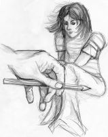 Rough drawing hand by Kopale