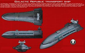 Galactic Republic transport ship ortho [New] by unusualsuspex