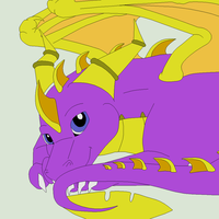 Dragon Lineart 14~Spyro 1~ by Xbox-DS-Gameboy