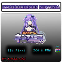 Hyperdimension Neptunia - Anime Icon by jstsouknw