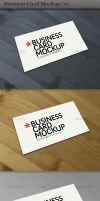 Business card mockup display by ranfirefly