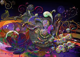 Funny Swirls Abstract Design by BlakeHenryRobson