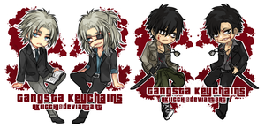 MERCH || GANGSTA DOUBLE SIDED KEYCHAINS by akiicchi