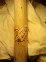 My staff - knotwork burned by tiscaitlin