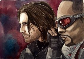 Bucky and Sam by Razum22