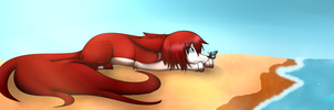 Butterfly on The Beach by Sammsy-Chan