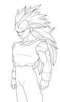 SSJ3 Vegeta Lineart by DranzertheEternal