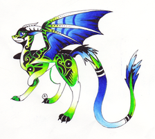 Green Dragon Adopt (CLOSED) by Ultralee0