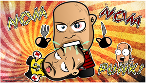 Ryback Noms CM Punk Wallpaper by kapaeme