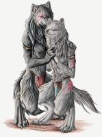Wolf Couple by Lyanti