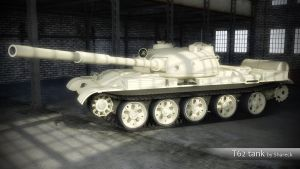 T62 soviet tank Sketchup model by shareck