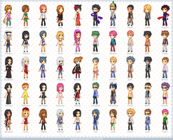 ..A bunch of pixel avatars.. by koruldia