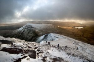 Brecon Beacons from Pen y Fan by Mohain
