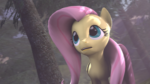Fluttershy In the Forest by Ferexes