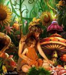 Autumn mother and child in fairy world by Kwekkie1982
