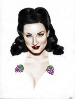 Dita III colored by rawkabette by lovelyzitalee