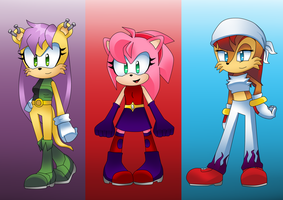 CONTEST: Sonic Girls Outfit Swap by meilienne