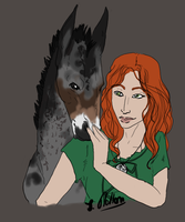 Edain and Mortimer by centuries-before