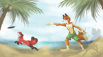 Fun At The Beach By Thatwildmary by Jonhs-Kitsune