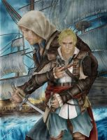 Edward Kenway Assassins Creed 4 Drawing by Saxa-XCII