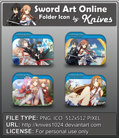 Sword Art Online Anime Folder Icon by Knives by knives1024