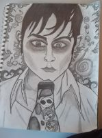 Self-Portrait of Barnabas: My Drawing of Johnny D. by DarkeningtheMind