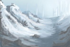 Quick Sketch Snowy Mountains by Tejayfc
