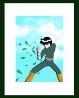 Colored Rock Lee by Deadbydawnn