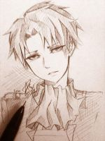Levi AoT .:doodle:. by aeirue-chan