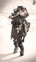 Armored cyborg. by duster132