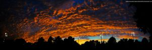 October sunset panorama by Apeanutbutterfiend