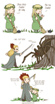 Hobbit - Legolas and Thranduil vs Mirkwood Spiders by caycowa