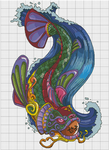 Seru Koi Xstitch Pattern (Darkly-Shaded-Shadow) by pinkythepink