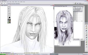 SEPHIROTH WIP or I'll Die by Washu-M