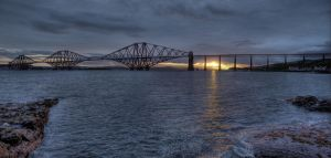 Forth Rail Bridge by Spyder-art