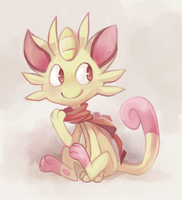 Shiny Meowth by yassui