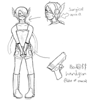Costume Idea 1 - 2nd Sketch by tenshiketsueki1000