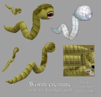 Worm creature by LaithArkham