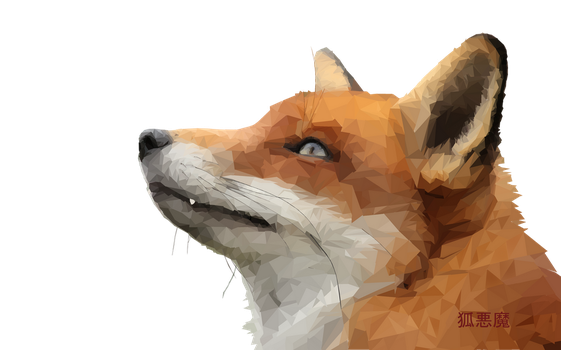 Low Poly Fox Kitsune by ZoomPL2