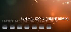 Minimal Icons: Indent Rmx XL by sabret00the