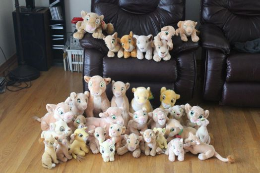 All my Nala plushies by Laurel-Lion
