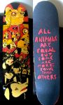 animal farm skateboard by reelphine