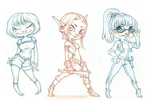 More chibis by SnuffyMcSnuff