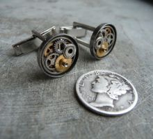 Cufflinks Model Ten by AMechanicalMind