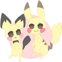 Pichu and Pikachu by Movess