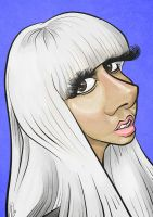 Lady Gaga Caricature by LaserDatsun