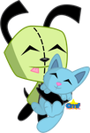 Gir and Space Cat by Tiny-Toons-Fan