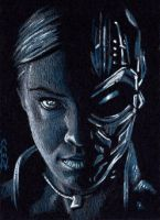 T-X -Terminator Sketch Card by J-Redd