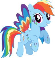 Rainbow Dash - Double rainbowed by Eisluk