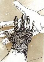 My hand, surreal-2 by GraveUnicorn